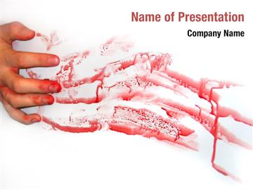Blood Hand Print