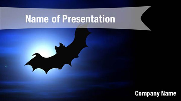 Scary Bat Powerpoint Templates Scary Bat Powerpoint