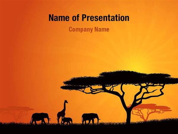 African Wildlife Powerpoint Templates African Wildlife
