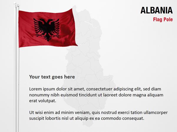 Albania Flag Pole