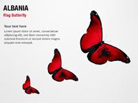 Albania Flag Butterfly