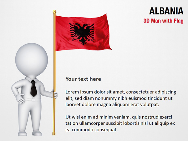 3D Man with Albania Flag