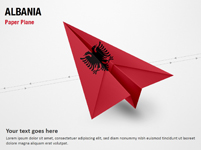 Paper Plane with Albania Flag