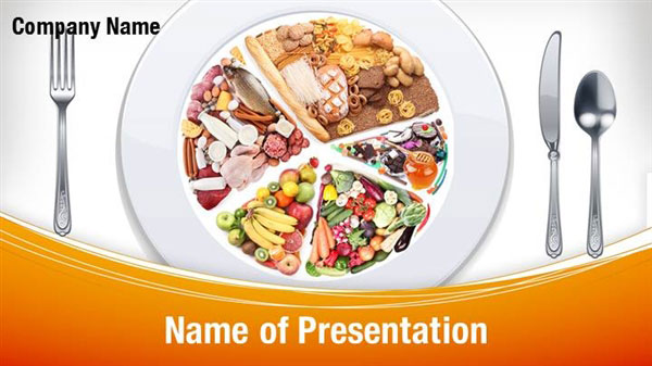 Diet Food PowerPoint Template Backgrounds