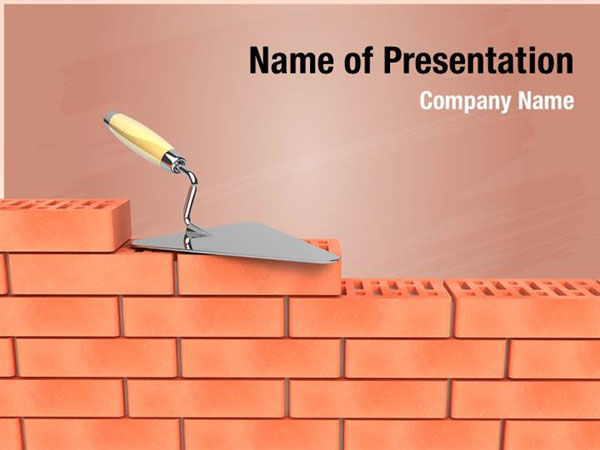 bricks wall construction powerpoint templates