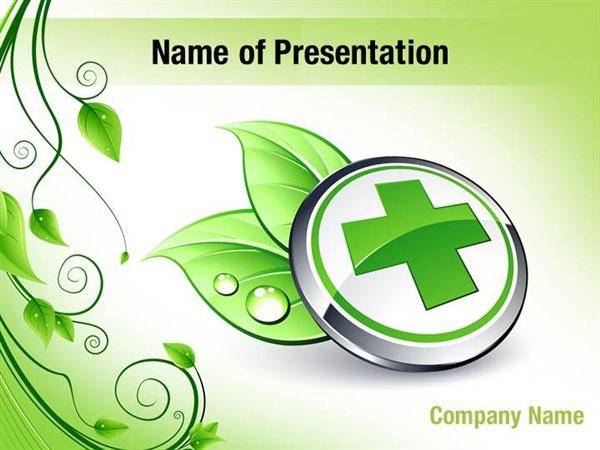 Green Medicine Powerpoint Templates Green Medicine