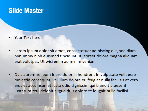 Thermoelectric Power Station PowerPoint Template Backgrounds