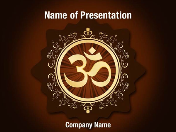 Hinduism Symbol PowerPoint Template Backgrounds