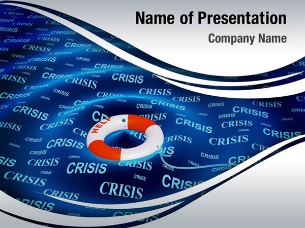 financial crisis help powerpoint templates