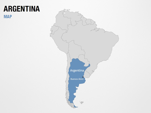 Argentina on World Map