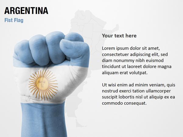 Argentina Fist Flag