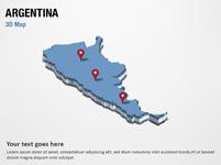 Argentina 3D Map