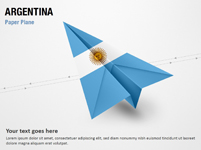 Paper Plane with Argentina Flag