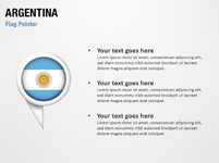 Argentina Flag Pointer