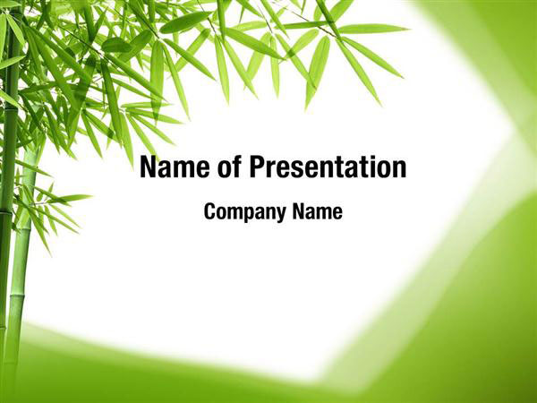 Bamboo Trees PowerPoint Templates - Bamboo Trees
