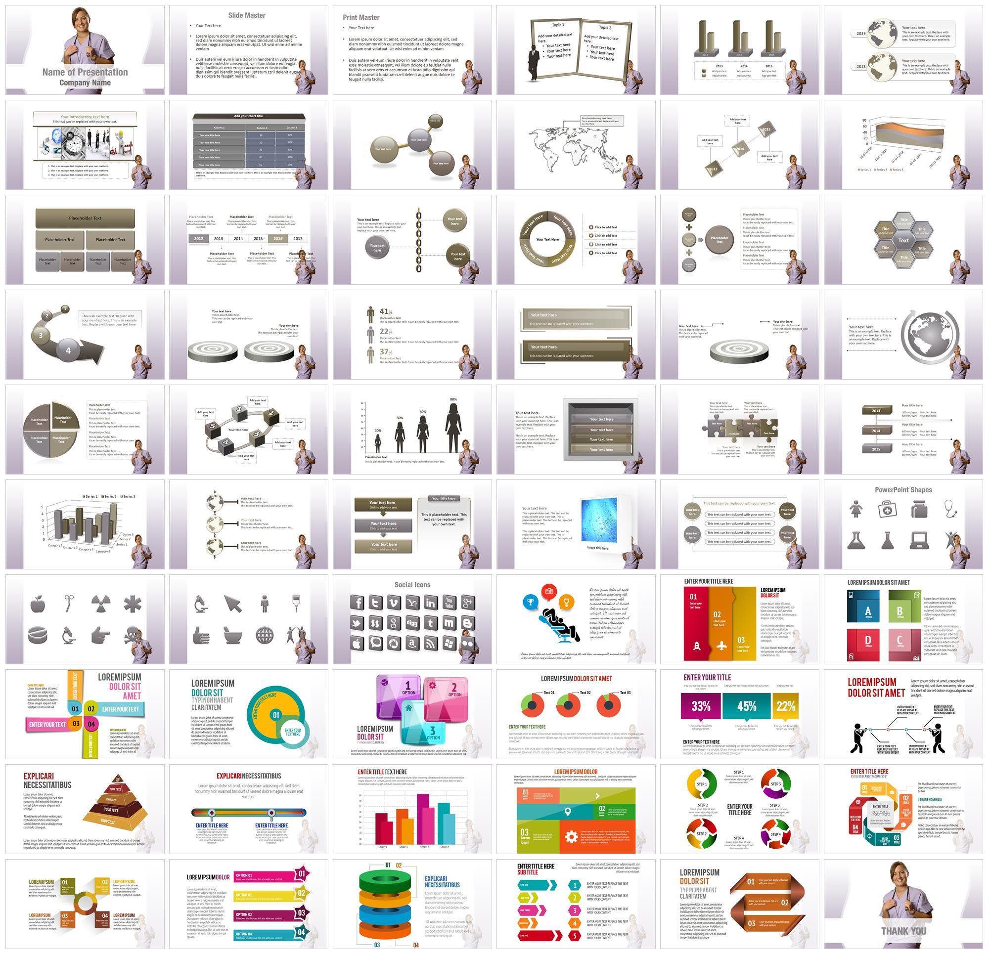 Nurse PowerPoint Templates Nurse PowerPoint Backgrounds Templates for PowerPoint