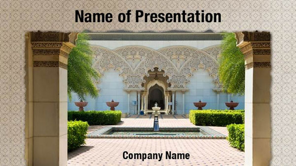 Ancient Architecture PowerPoint Template Backgrounds