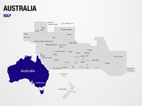 Australia on World Map