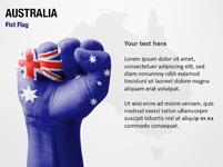 Australia Fist Flag