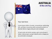 3D Man with Australia Flag