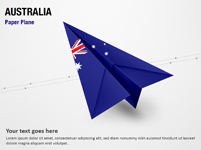 Paper Plane with Australia Flag