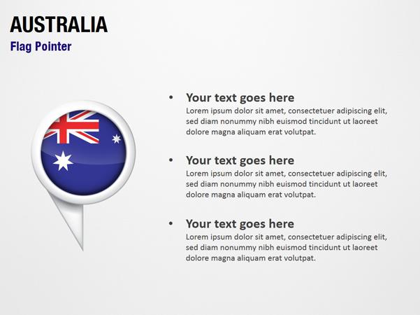 Australia Flag Pointer