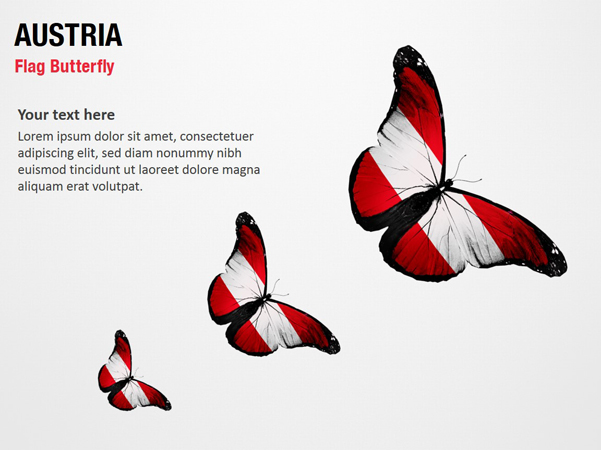 Austria Flag Butterfly