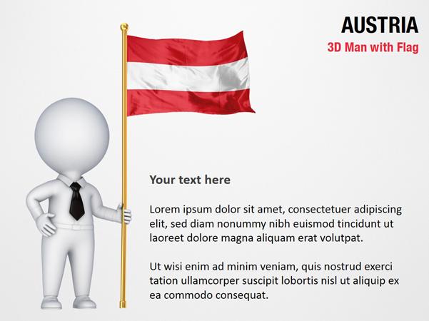 3D Man with Austria Flag