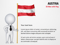 3D Man with Austria Flag