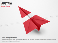 Paper Plane with Austria Flag
