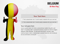 Belgium 3D Man Flag