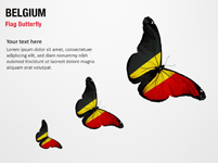 Belgium Flag Butterfly