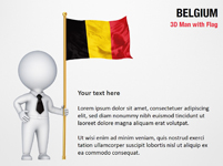 3D Man with Belgium Flag