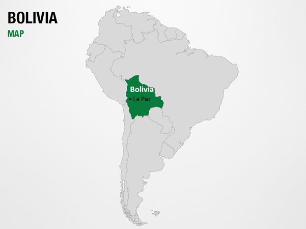 Bolivia on World Map