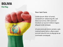 Bolivia Fist Flag