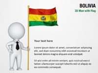3D Man with Bolivia Flag