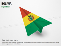 Paper Plane with Bolivia Flag