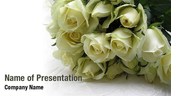 wedding roses powerpoint templates