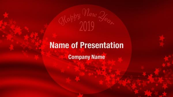 Red New Year Greeting 2018 Powerpoint Templates Red New