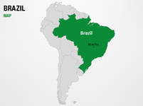 Brazil on World Map