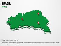 Brazil 3D Map