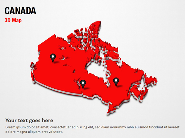 Map Of Canada 3d.Canada 3d Map Powerpoint Map Slides Canada 3d Map Map Ppt Slides Powerpoint Map Slides Of Canada 3d Map Powerpoint Map Templates