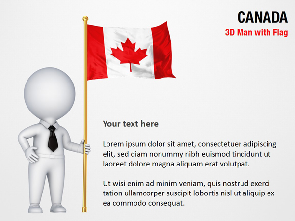3D Man with Canada Flag