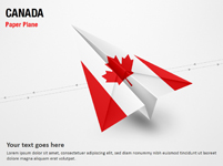 Paper Plane with Canada Flag