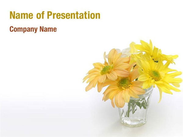 Pastel Flowers Powerpoint Templates  Pastel Flowers Powerpoint
