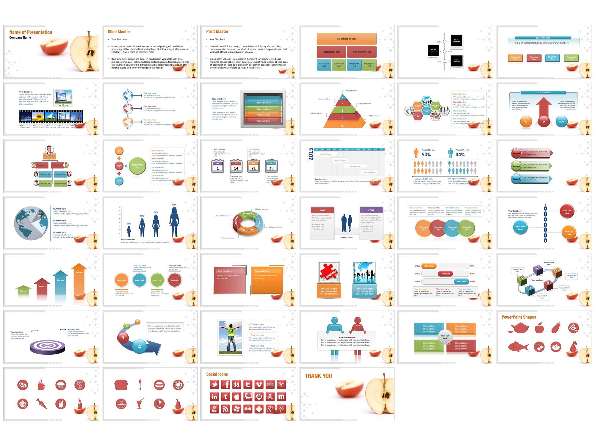 sliced apple powerpoint templates
