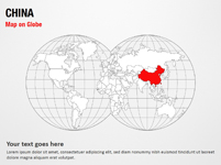 China Map on Globe