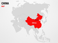 China on World Map