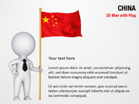 3D Man with China Flag