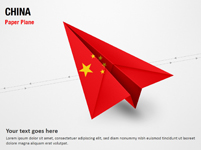 Paper Plane with China Flag